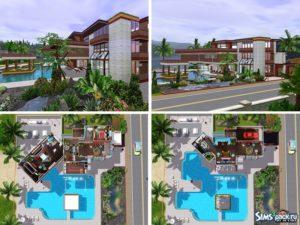 "Дом ""Racha Retro Modern"" от Autaki для Sims 3"