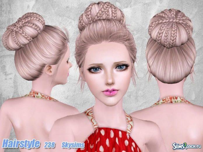 Прическа №238 для всех возрастов от Skysims для Sims 3