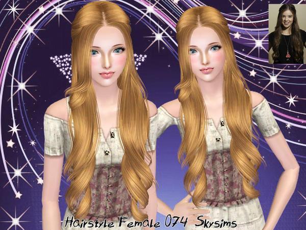 Прическа №74 от Skysims для всех возрастов для Симс 3