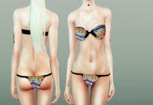Женский купальник от missfortunesims для Sims 3