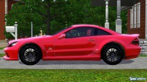 Mercedes-Benz SL65 AMG Black Series от Fresh-Prince для Sims 3