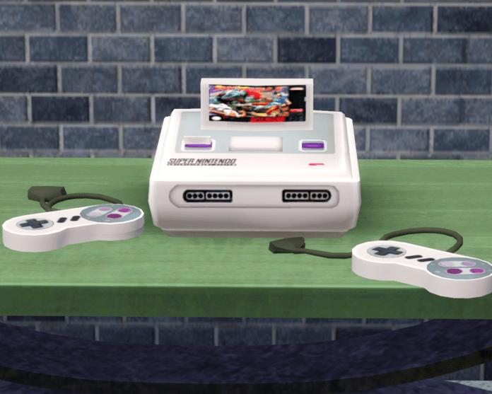 Приставка Super Nintendo для Sims 3