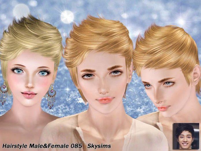 Прическа №85 для обоих полов от Skysims для Симс 3