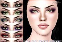 """Тени для век """"Heavy Metal Shine"""" от Pralinesims для Sims 3"""