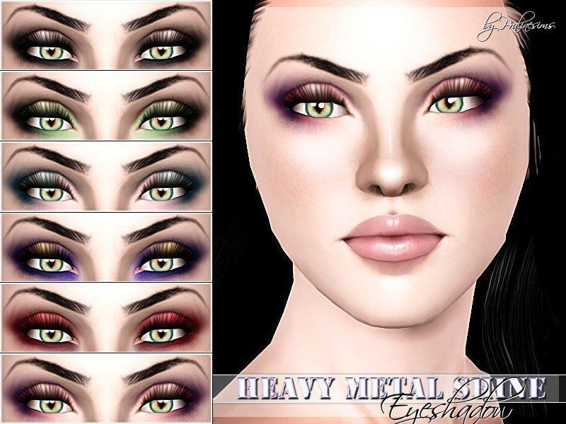 "Тени для век ""Heavy Metal Shine"" от Pralinesims для Sims 3"