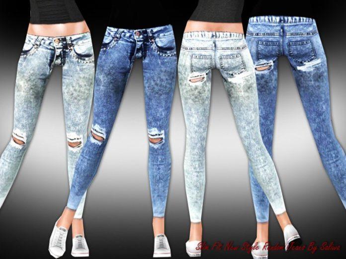 Женские джинсы Slim Fit от Saliwa для Sims 3
