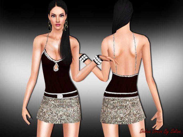 Скачать Роскошное платье от Saliwa для Симс 3