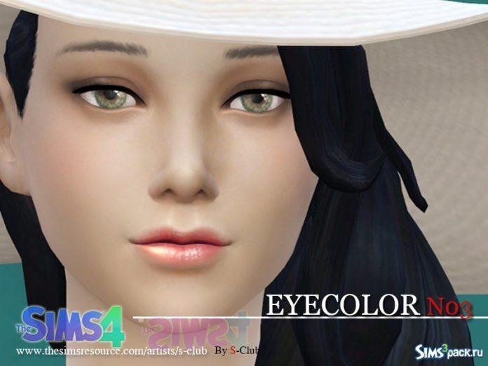 Глаза №3 от S-Club для Sims 4