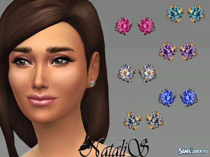 Серьги Crystal studs №1 от NataliS для Симс 4