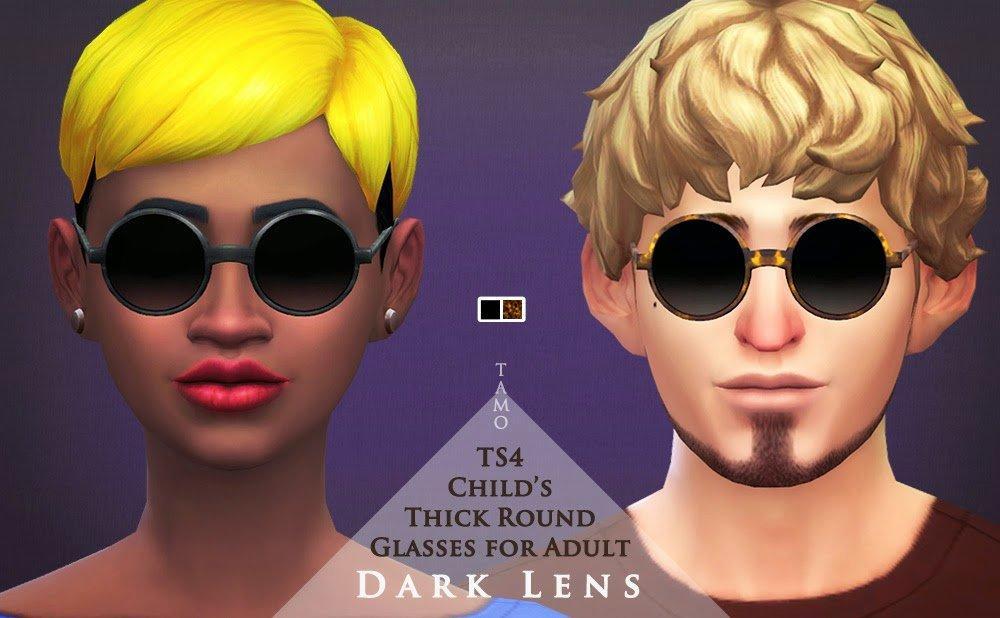 Круглые очки от Tamo для Симс 4