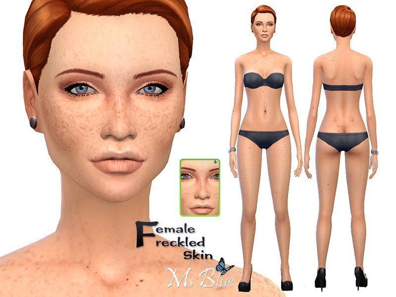 Женский скин с веснушками от Ms Blue для Sims 4