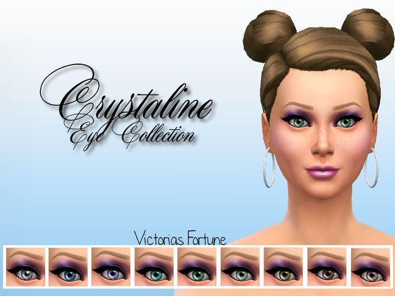Глаза Crystaline от fortunecookie1 для Sims 4