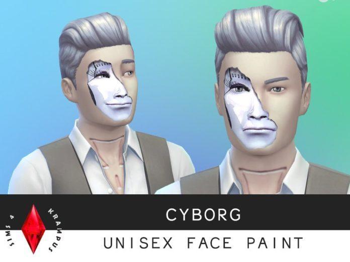 Лицо киборга от SIms4Krampus для Sims 4