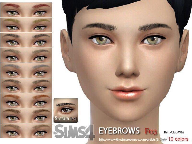 Женские брови №3 от S-Club для Sims 4