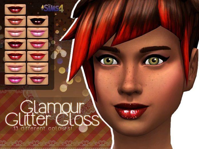 Блеск для губ Glamour от Shishinom для Sims 4