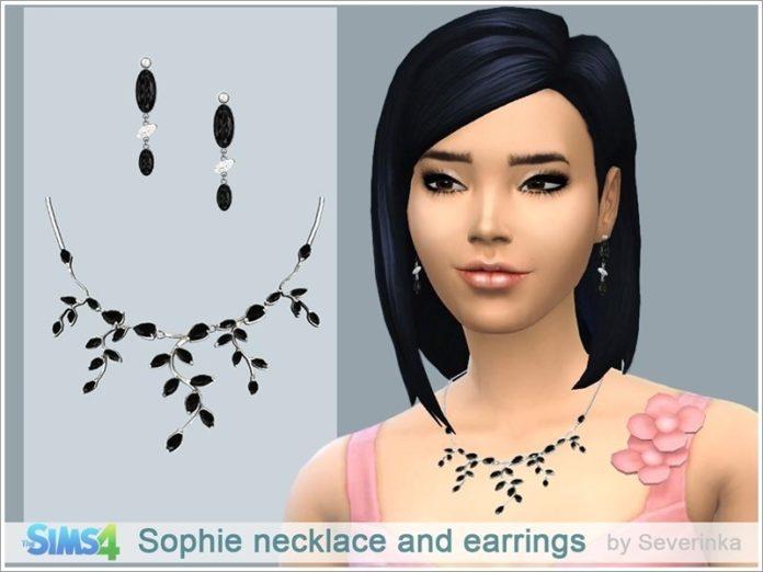 Ожерелье и серьги от Severinka для Sims 4