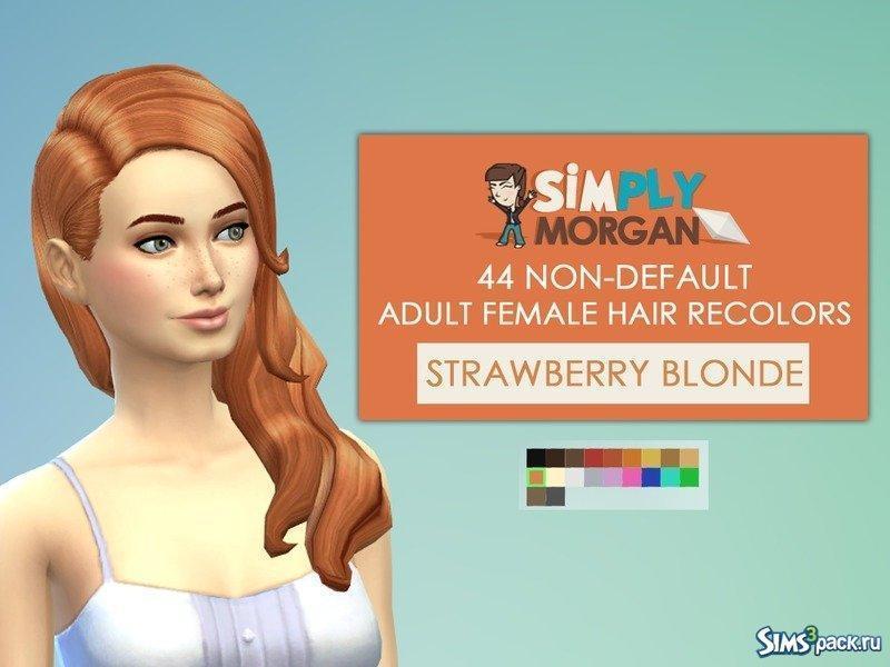 Перекраски волос для всех возрастов от SimplyMorgan77 для Симс 4