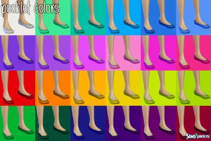 54 перекраски балеток от Goldfish_of_Evil для Sims 4