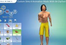 """Поза """"средний палец"""" для Sims 4"""