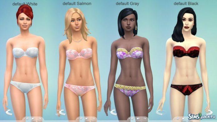 Перекраски нижнего белья от Gelcha для Sims 4