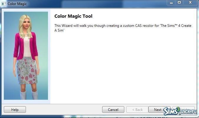 Программа Color Magic для ретекстурирования (перекраски) предметов для Симс 4