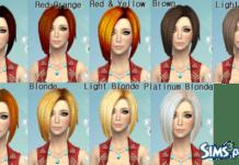 19 не дефолтных перекрасок причесок от Darkiie для Sims 4