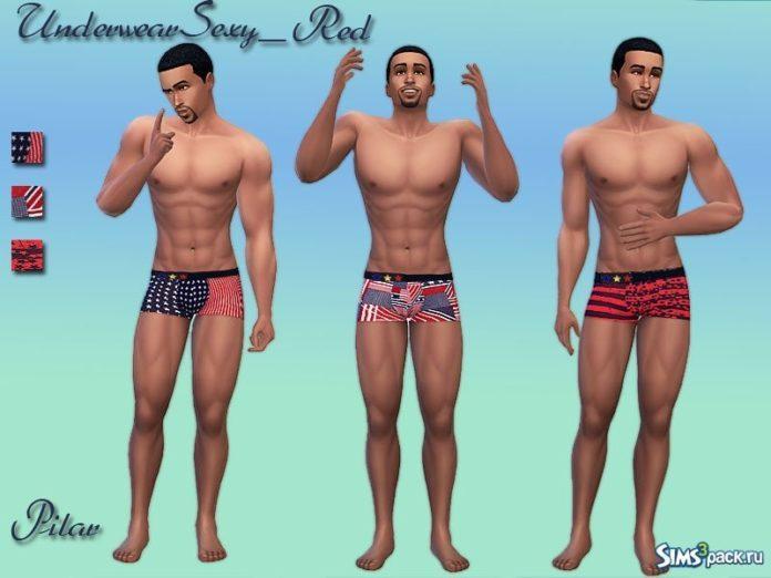 Мужские трусы от Pilar для Sims 4