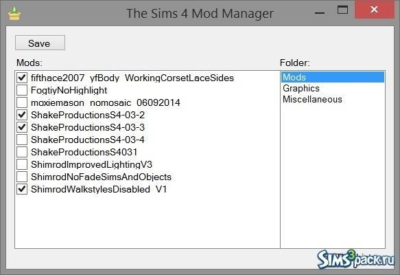 Программа Simple Mod Manager от Thrahistan для Симс 4