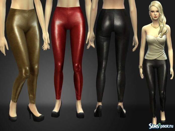 Кожаные леггинсы от Nia для Sims 4
