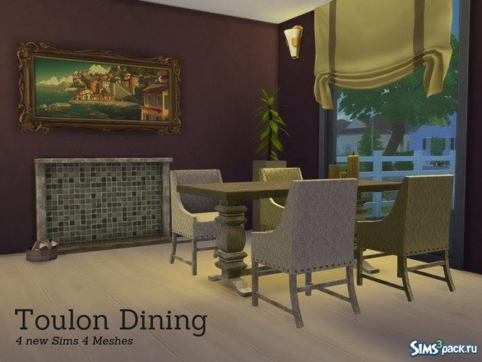 Столовая Toulon от Angela для Sims 4