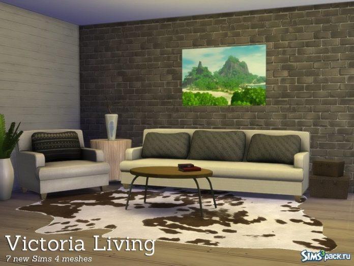 Гостиная Victoria от Angela для Sims 4