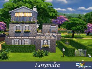 Дом Loxandra от evi для Sims 4
