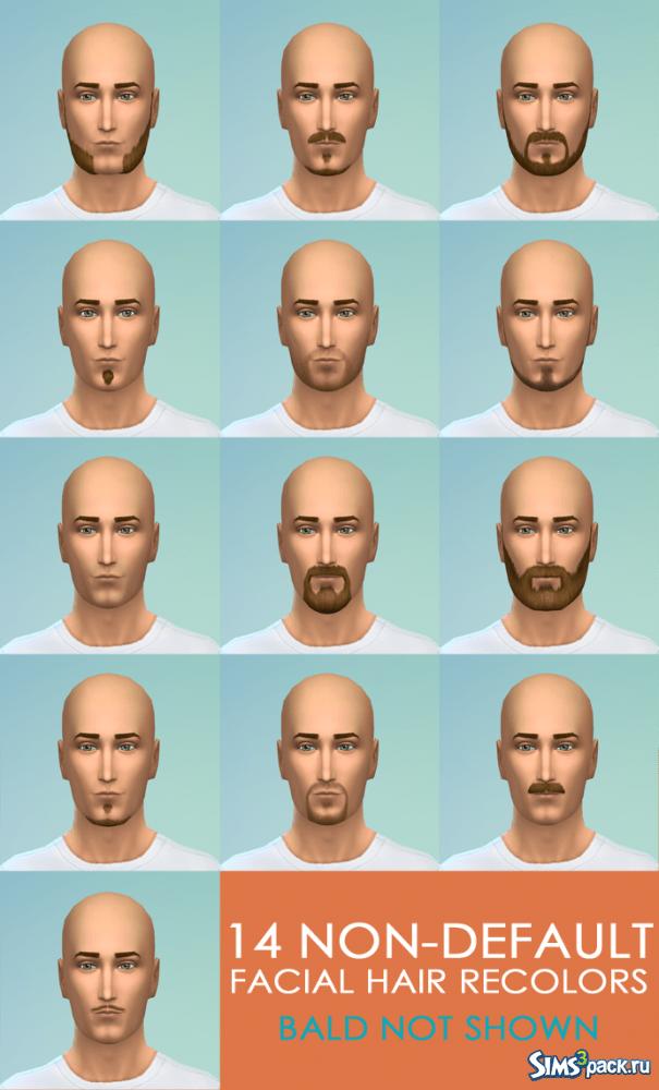 Бороды, усы от SimplyMorgan для Sims 4