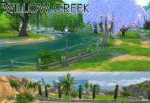Пустые города Oasis Springs и Willow Creek от One Billion Pixels для Sims 4