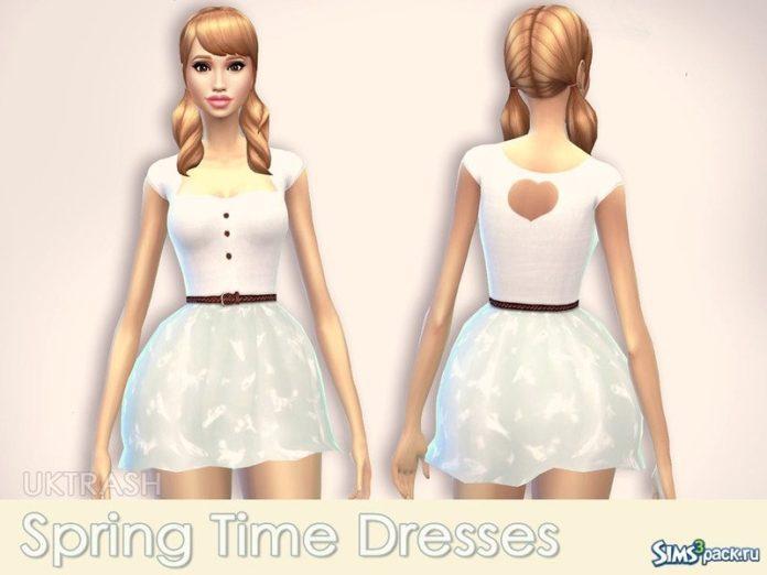 Весенняя коллекция одежды от UKTRASH для Sims 4