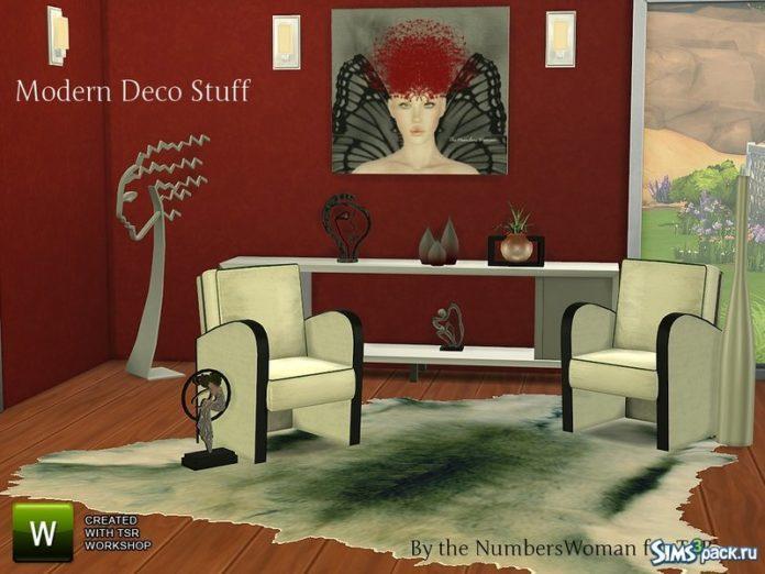Набор Modern Deco Stuff от TheNumbersWoman для Симс 4