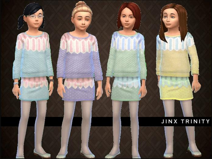 Детская одежда Leaf set от JinxTrinity для Sims 4