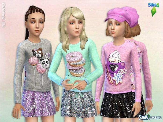 Детская одежда Candy Colors от lillka для Sims 4