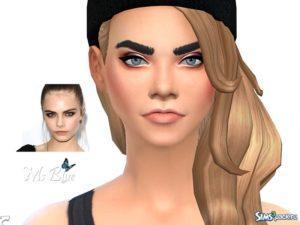 Симка Кара Делевинь от Ms Blue для Sims 4