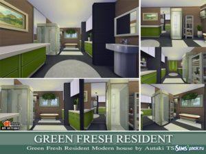 Дом Green Fresh Resident от autaki для Симс 4