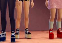 Обувь на платформе от Chumcha для Sims 4