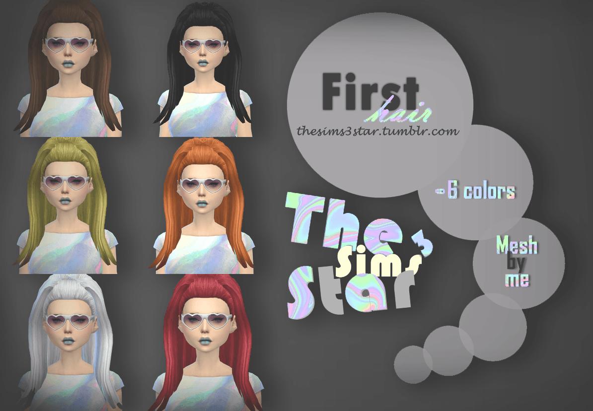 Прическа от thesims3star для Sims 4