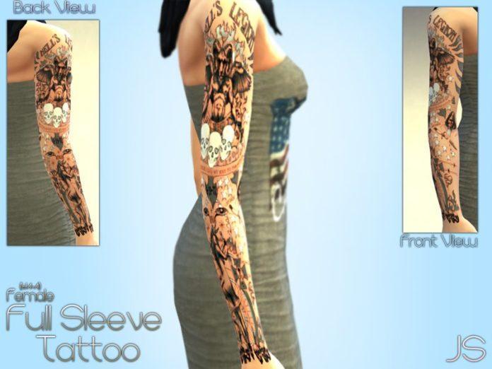 Татуировка на всю руку от JavaSims для Симс 4