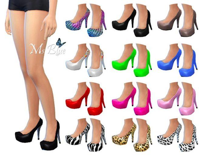 Туфли Imani Pumps от Ms_Blue для Sims 4
