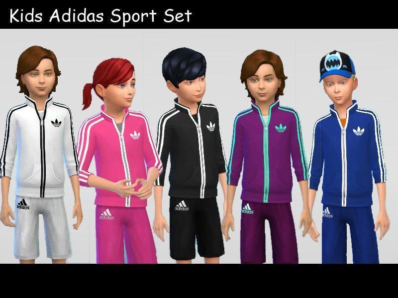 Детская спортивная одежда Adidas от Kronronko для Симс 4