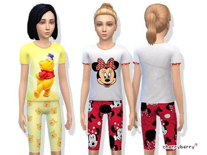 Пижамы для девочек от CherryBerrySim для Симс 4