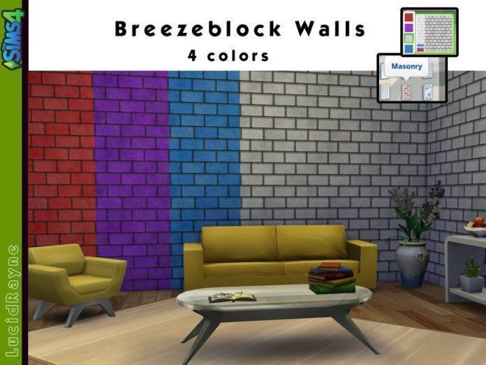 4 перекраски стен от LucidRayne для Симс 4