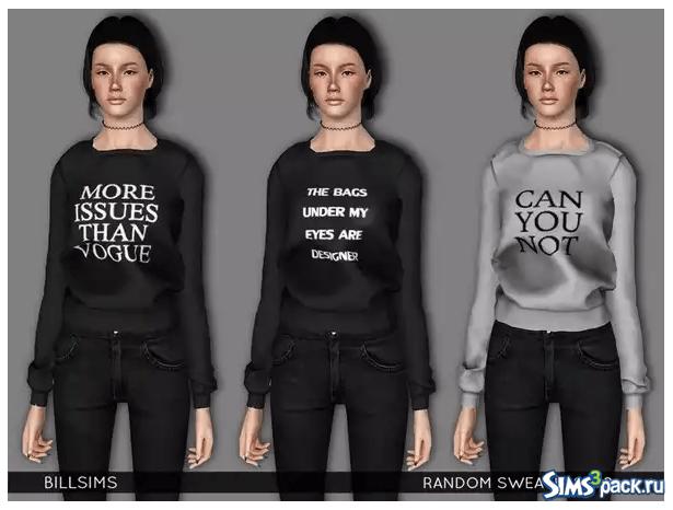 Свитера Random N.2 от Bill Sims для Sims 3