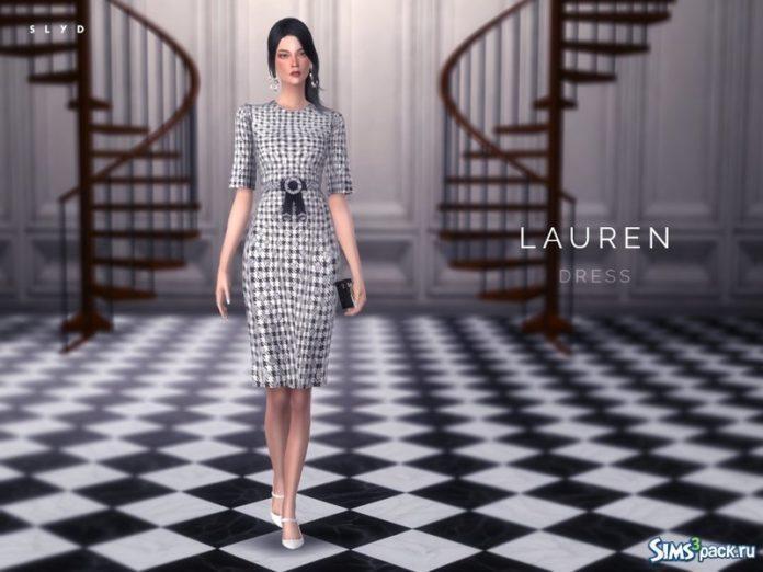 Платье Houndstooth от SLYD для Симс 3