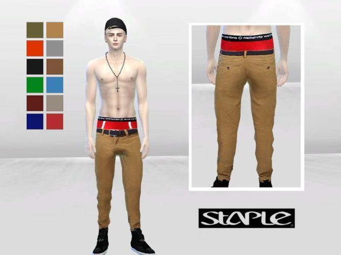 Мужские брюки Toho от McLayneSims для Sims 4